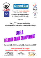 21ème tournoi de l'Aube Cadets Juniors Label A